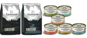 Zestaw karm dla kotów i kociąt Canagan MIX - Free Run Chicken +Scotish Salmon + 6 puszek