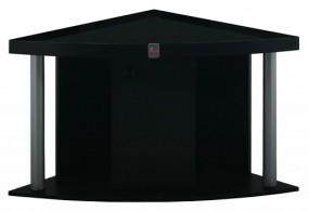 Diversa szafka narożna pod akwarium czarna 72x72x67 cm